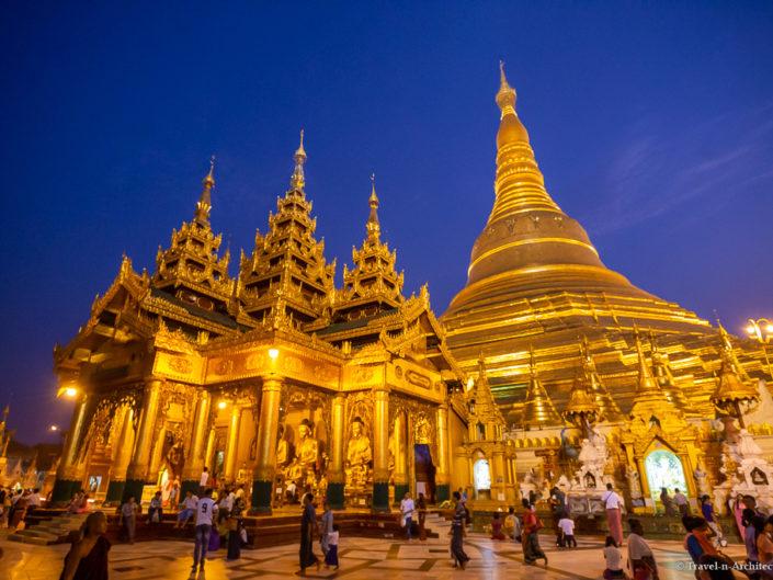 Myanmar – Yangon – Shwedagon Pagode – Blue Hour