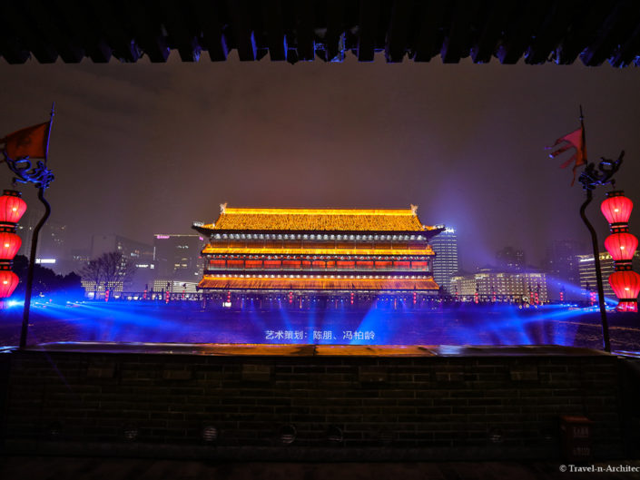 China- Xian-South Gate-Lightshow