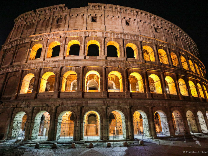 Italy-Rome-Colosseum-Night