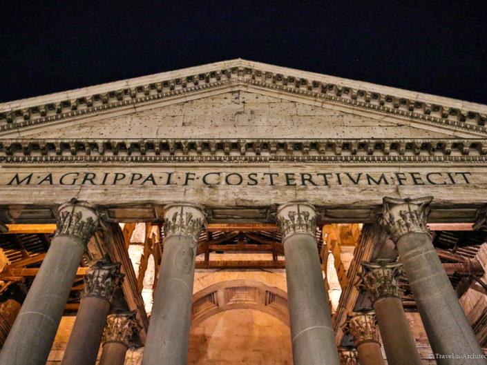 Italy-Rome-Pantheon-Evening