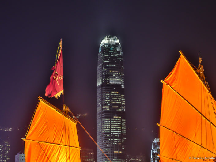China-City of Hongkong-Victoria Harbour-Sunrise & at Night