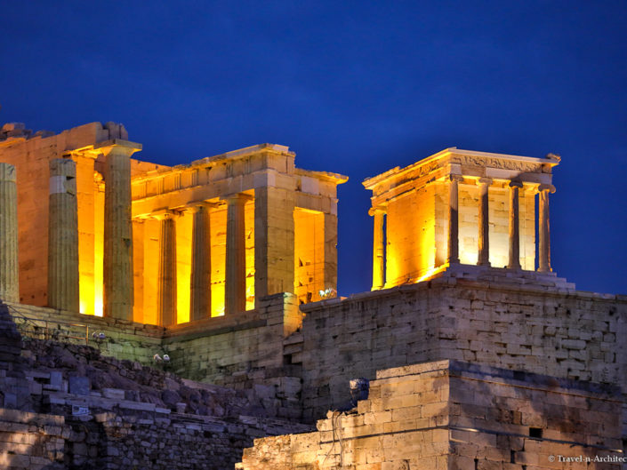 Greece-Acropolis of Athens at Night