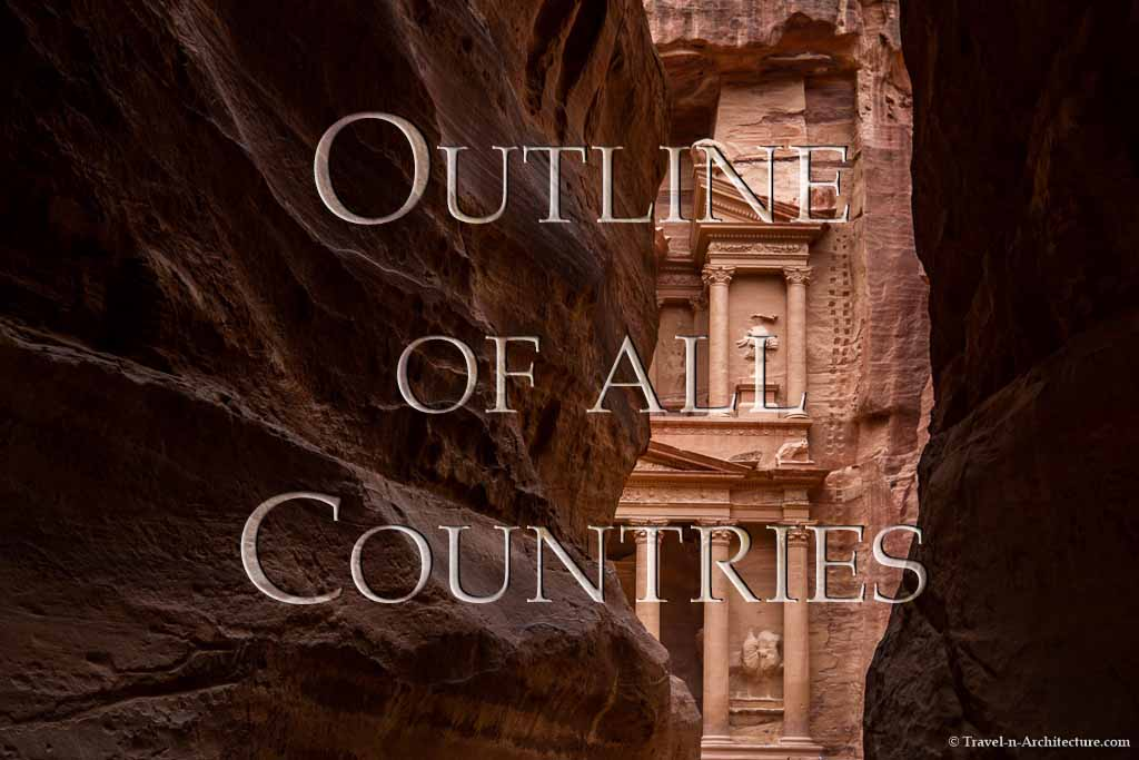 Travel-n-Architecture - Outline of all Contries